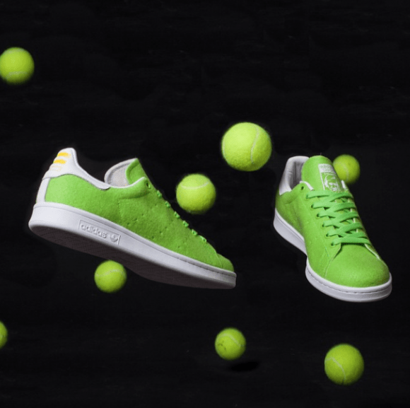online store 4313e 9d9da Pharrell x adidas Stan Smith Tennis Ball Collection - Availa