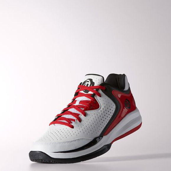 sports shoes 84eeb 6aac1 adidas D Rose Englewood 3 White Black - Light Scarlet 2