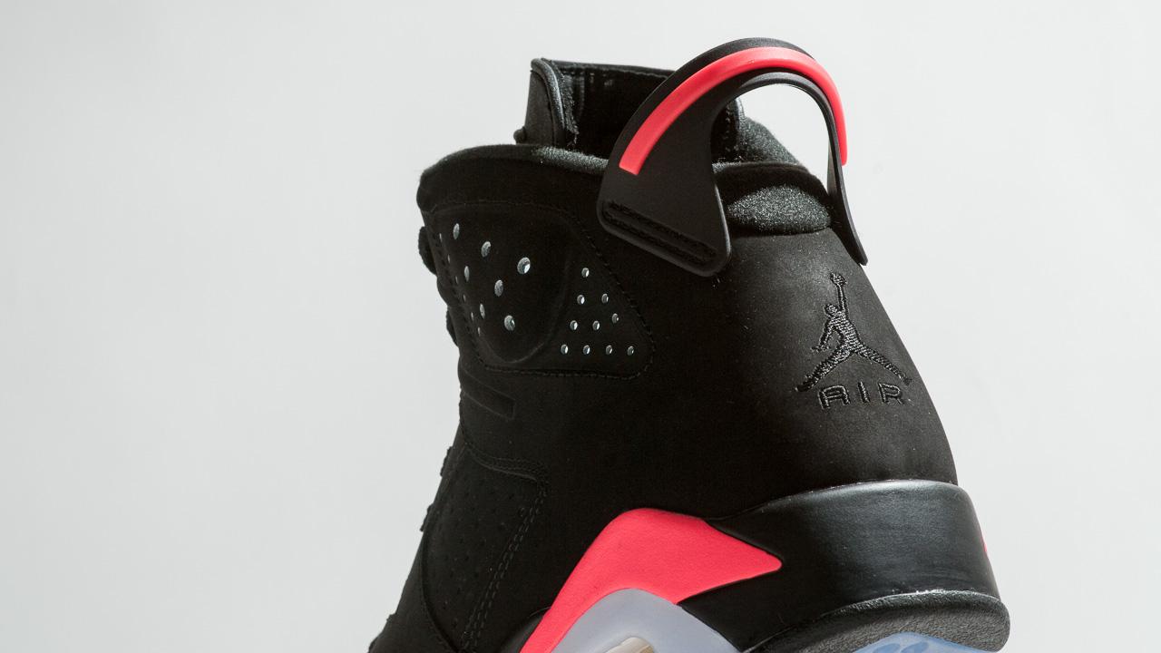 9bccd9f83b479f Air Jordan 6 Retro Black  Infrared23 - Up Close   Personal - WearTesters