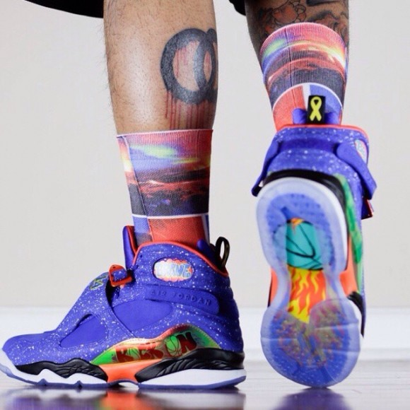 daf513fd0d1f Air Jordan 8 Retro  Doernbecher  – On-Feet Look2 - WearTesters
