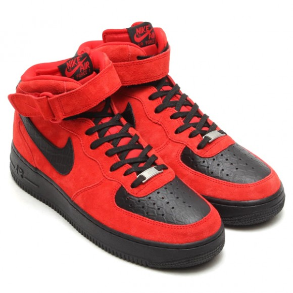 superior quality fd552 b0eb8 air-force-1-mid-red-suede-black-python