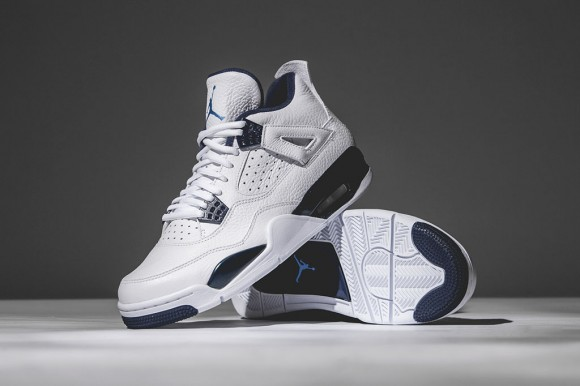 080f8c3e610 Air Jordan 4 Retro 'Columbia/ Legend Blue' – Detailed Look - WearTesters