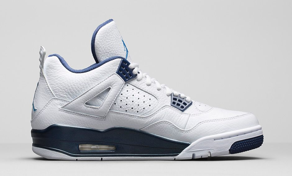 detailed look 10487 7ac01 ... Air Jordan 4 Retro  Columbia Legend Blue  - Official Look + Release ...