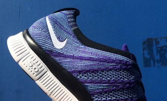 0eb8de1407a78 Nike Free Flyknit NSW Court Purple White-Polarized Blue Black ...