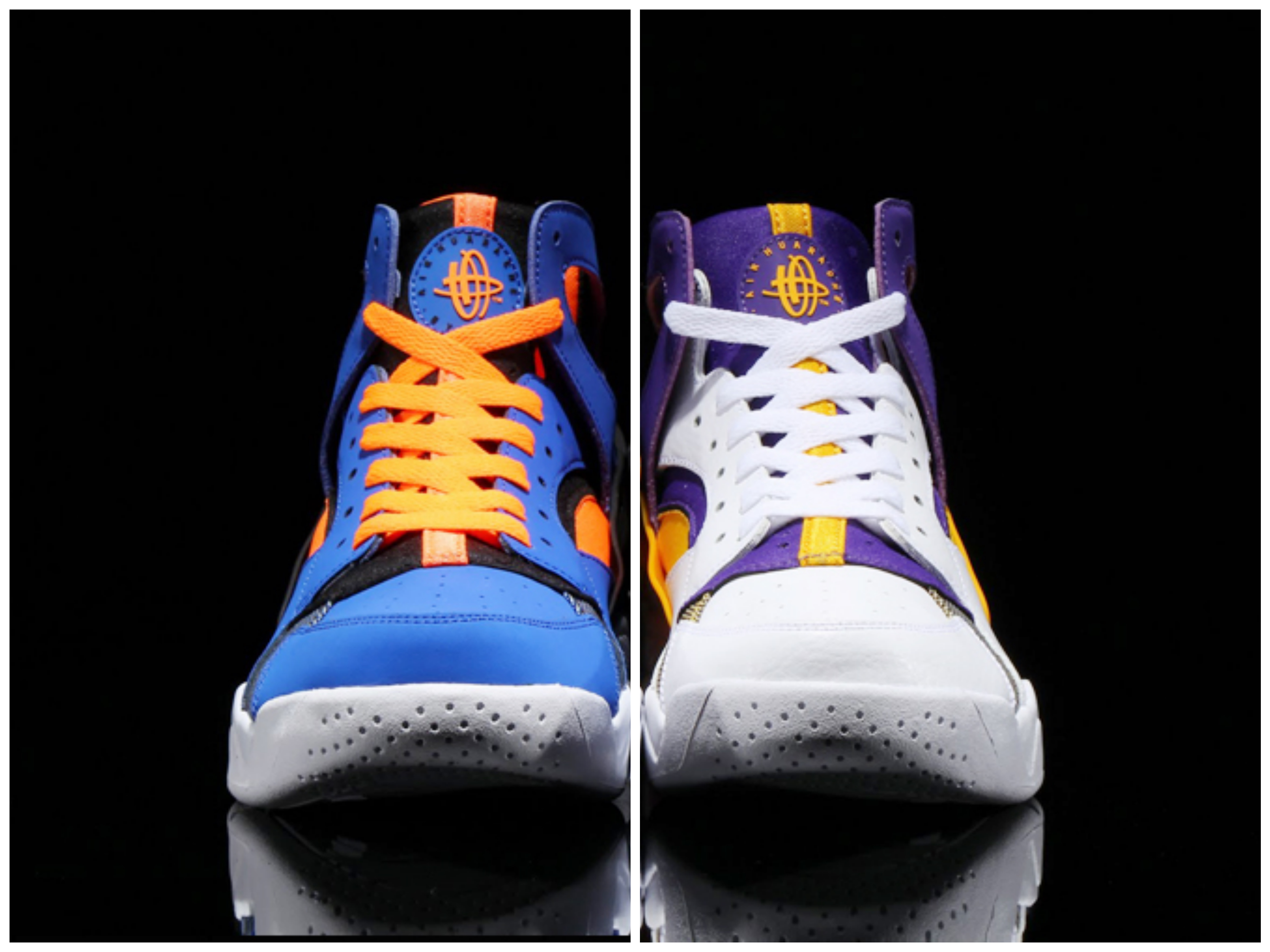 2daea7fcd16 A Nike Air Flight Huarache Pack for Lakers   Knicks fans - WearTesters