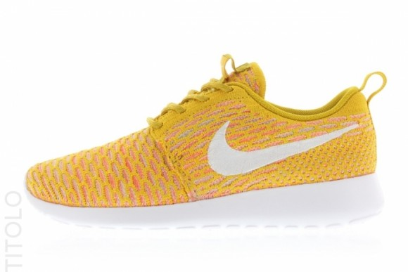 hot sale online c3bd3 43da1 Nike Flyknit Roshe Run  Gold Lead  ...