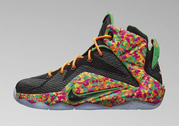 8b8945f3129e Nike LeBron 12 GS  Fruity Pebbles  - WearTesters