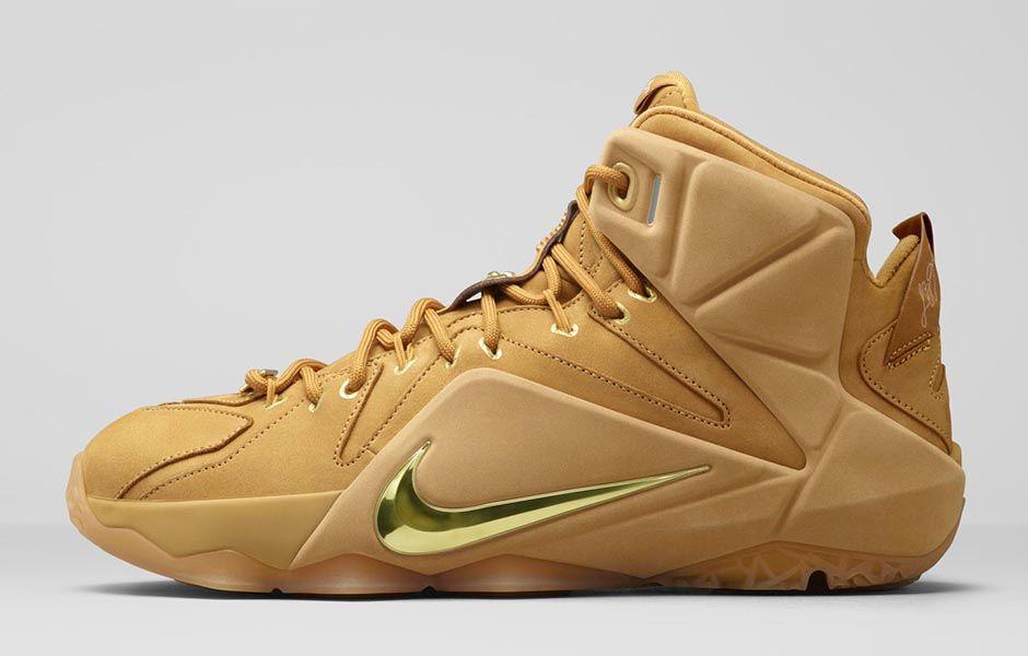 premium selection e6419 89b3a Nike LeBron XII EXT  Wheat  - Release Information-1