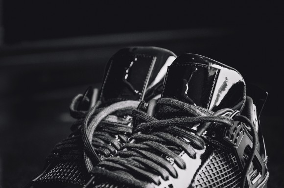 buy online f320a 147e7 ... Detailed Images of the Air Jordan 11Lab4 Retro Black  White tongue ...