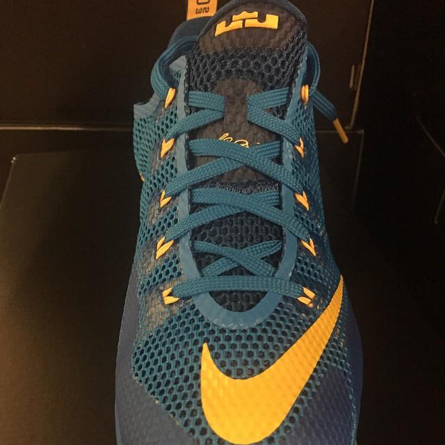 free shipping 3b135 107d6 ... Nike LeBron 12 Low  Photo Blue  ...