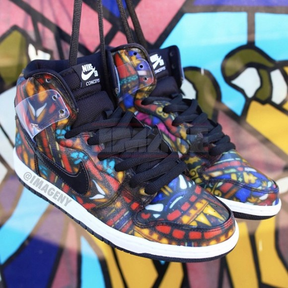 e9bea213c125 Concepts x Nike SB Dunk High  Stained Glass  - WearTesters