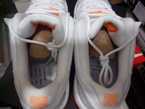 buy online 8b19c 0dffc ... Air Jordan 11 Low Retro  Citrus  heel insole sock ...