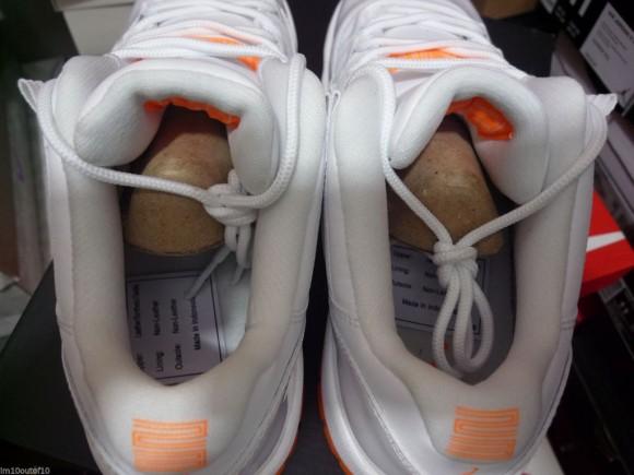 85540955c37b5a ... Air Jordan 11 Low Retro  Citrus  heel insole sock ...