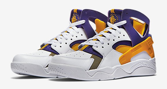 26bf103b9ba0 The Nike Air Flight Huarache  Los Angeles Lakers  is Available Now ...