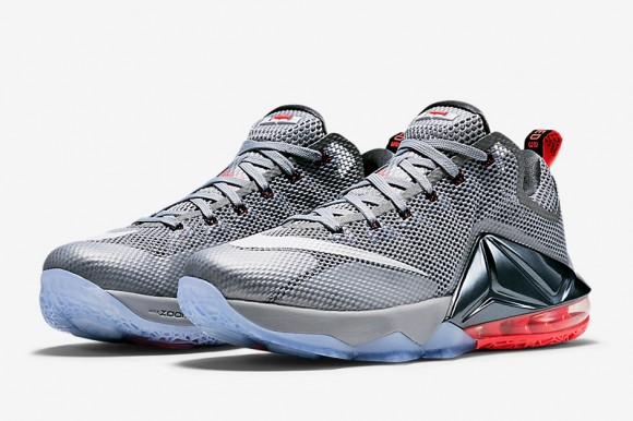 0c35a1f4f8ca Nike LeBron 12 Low Will Come in Wolf Grey  Hot Lava - WearTesters