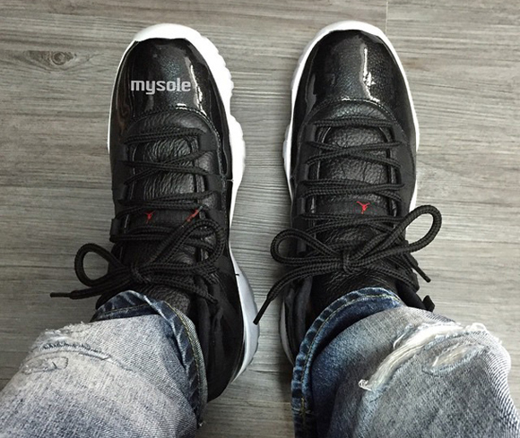 best service 38389 2ff1f ... Air Jordan 11 Retro 72-10 Gets An On-Foot ...