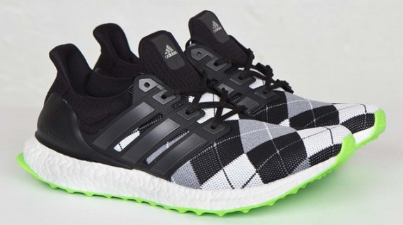 adidas Ultra Boost KVA solar green grey plaid