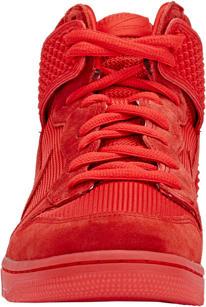 70973b5293b nike dunk high red october front view - WearTesters