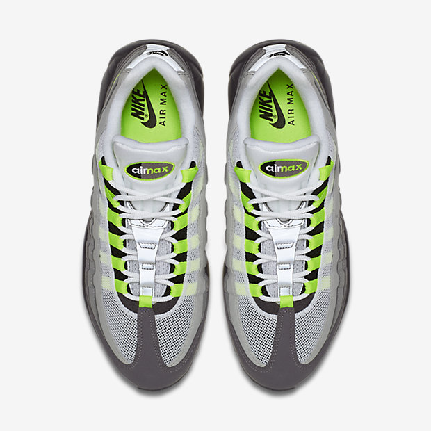 Nike Air Max 95 OG  Neon  top view - WearTesters eaa9eeed9c5c
