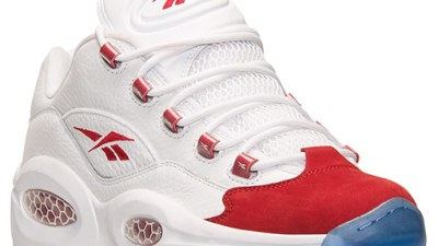 66ac1da04443 Reebok Question Low White  Red – Available Now