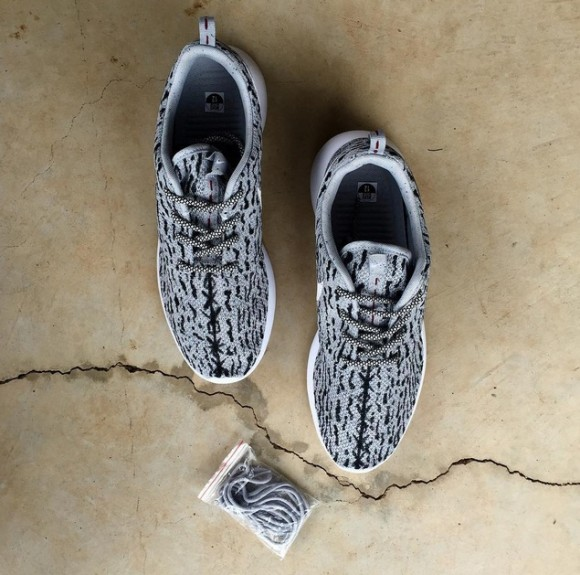 5386e347702b This Guy Drew Lines On The Nike Roshe One To Mimic The Yeezy Boost 350 And