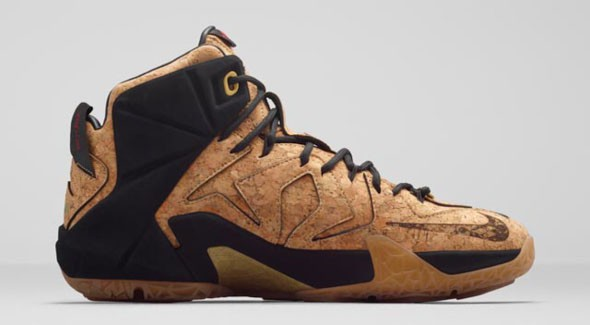 Nike LeBron 12 EXT 'King's Cork' medial