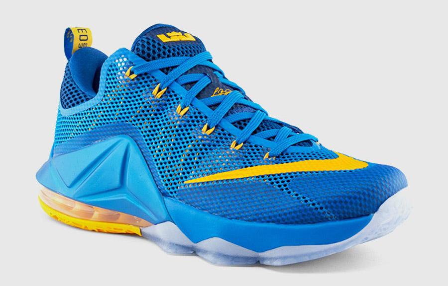 7cce7c999b7b7 Nike LeBron 12 Low entourage blue yellow - WearTesters