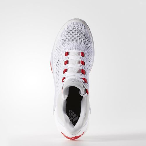 save off 88d40 fcf58 ... adidas CrazyLight Boost 2015 White Clear Grey - Red 2 ...