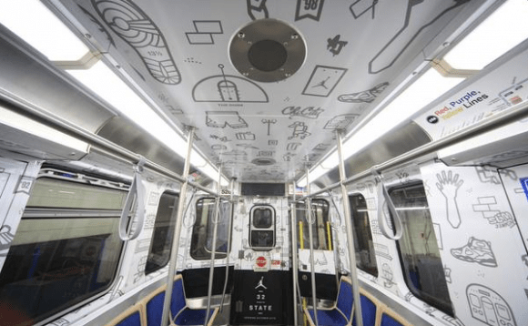 Jordan Brand Commandeers a Chicago Subway Train-2