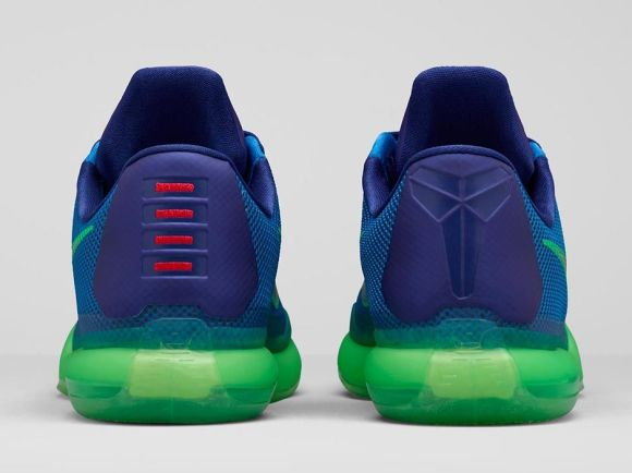 Nike Kobe X 'Emerald City' heel view