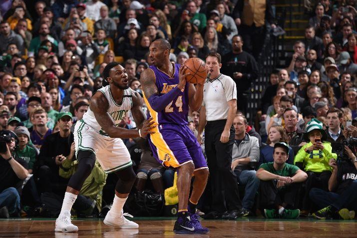 The Mamba Wears the Kobe XI for His Last Run in Boston-1