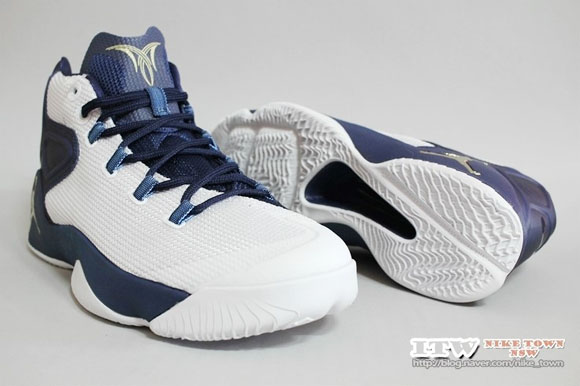 302d421c8ee Get Up Close and Personal with the Jordan Melo M12 in White/ Navy ...