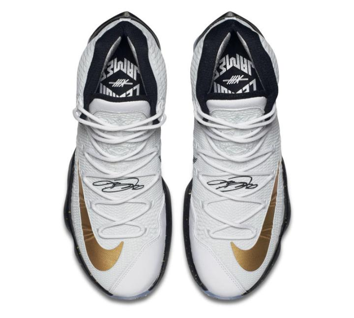 best website 84bdd 8f5cd Kiss the Ring in the Nike LeBron 13 Elite in Metallic Gold