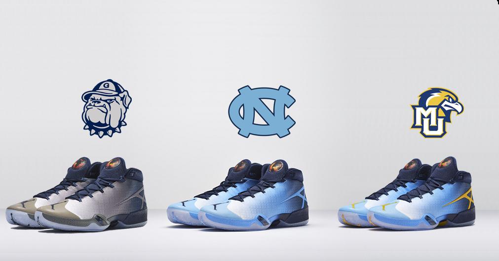 Who's Got the Better Air Jordan XXX (30) PE: Georgetown, UNC, or Marquette?