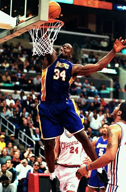 Shaquille Oneal Shoes Against Ruler