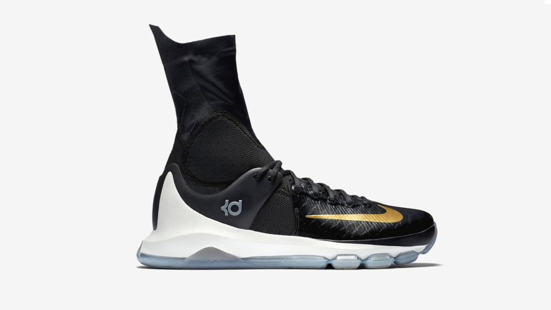 buy popular 8d16d ea0fc Here is an Official Look at the Nike KD 8 Elite in Black   Gold ...