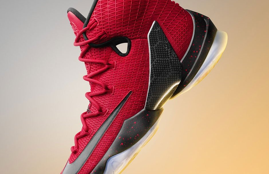 23f89f0d467 Prep for the Playoffs in the Nike LeBron 13 Elite in University Red ...