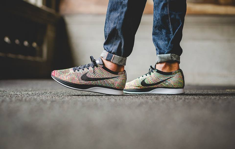 0a61e82bc1744 The Nike Flyknit Racer  Rainbow  Multicolor Has Restocked - WearTesters
