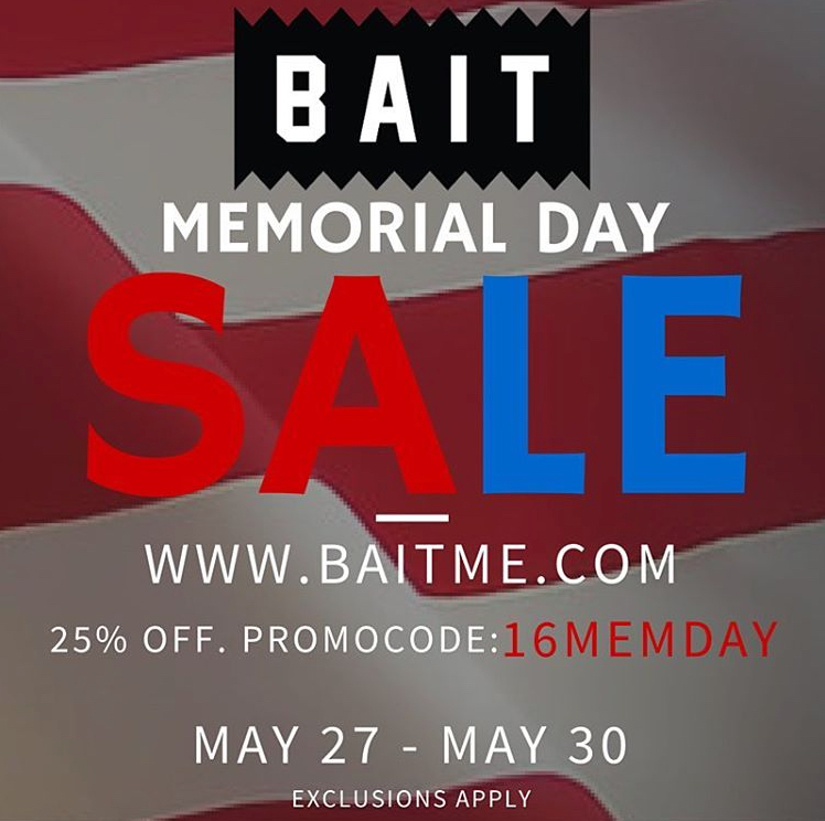 f548674128bc BAIT Memorial Day Sale Offers 25% Off Sitewide - WearTesters