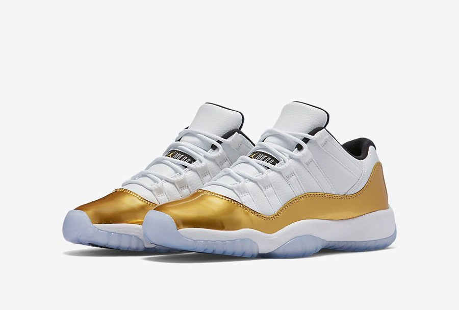 74ff7a758189 The Air Jordan 11 Retro Low Looks Good in  Metallic Gold  - WearTesters