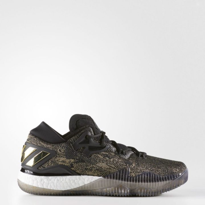 Adidas Crazylight Boost 2016 - Black-Gold-Side View