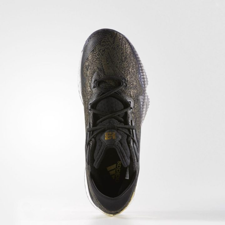 Adidas Crazylight Boost 2016 - Black-Gold-Top View