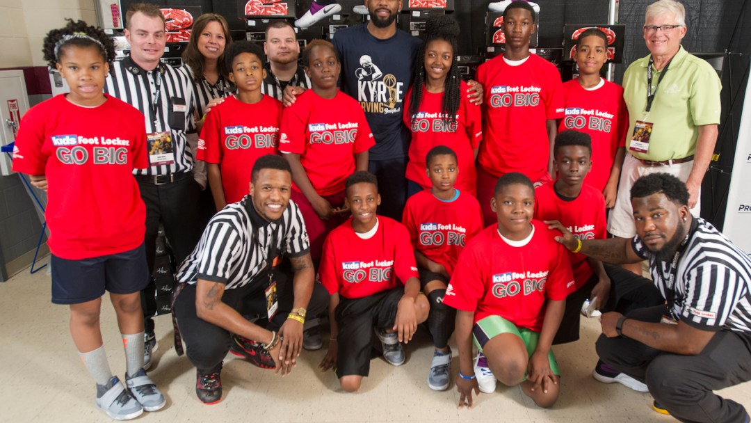 a891f93890c9 Kyrie and Kids Foot Locker Donate 190 Pairs to Boys   Girls Clubs of ...