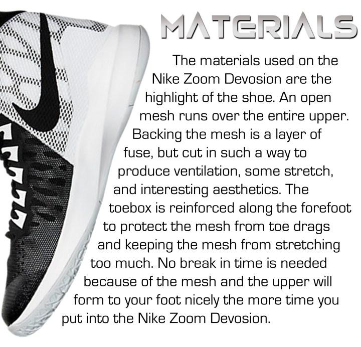 new york af219 f6acc ... Nike Devosion - Materials ...