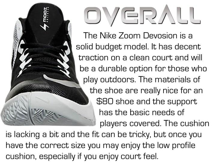 timeless design 4315a ed1bd ... Nike Devosion - Overall Nike Zoom Devosion - Score Card