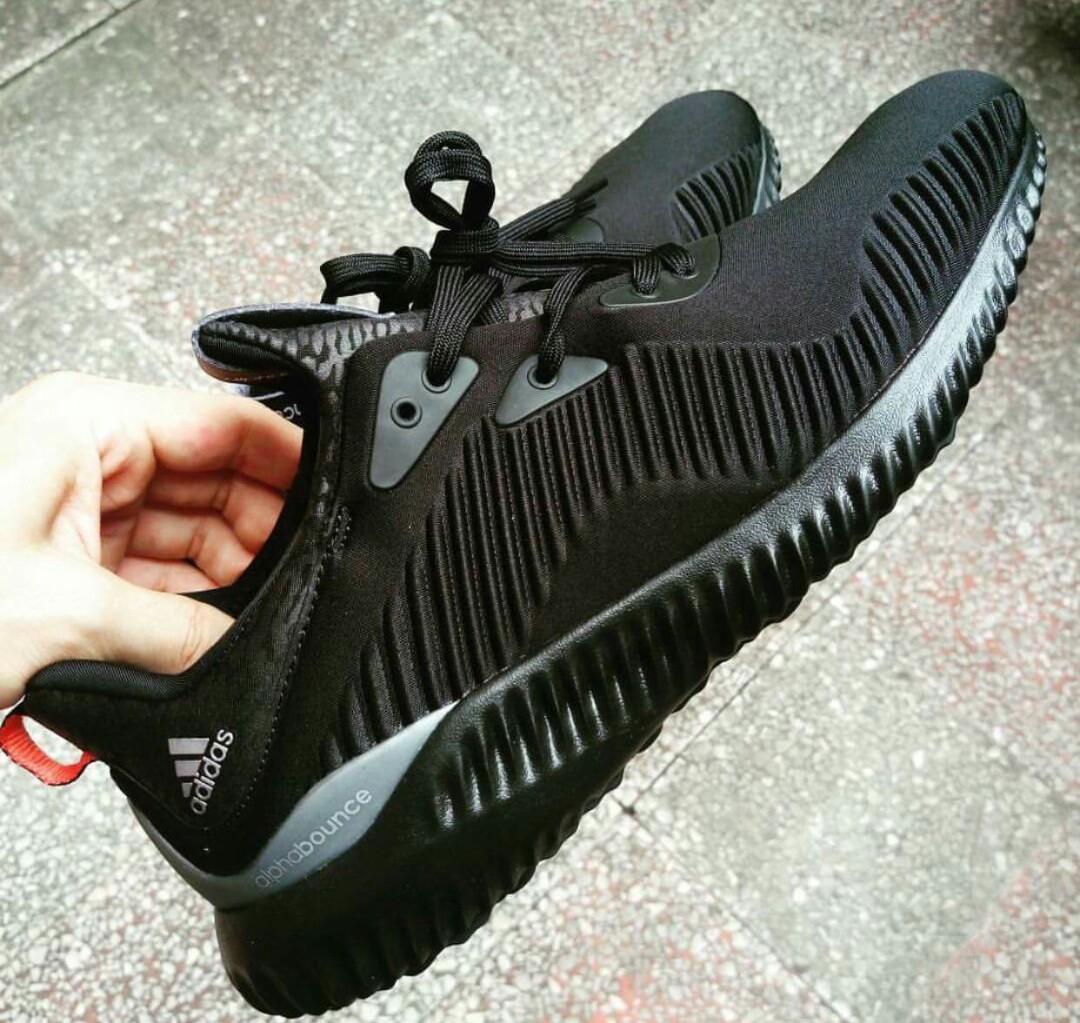f4c9fa0c7 adidas Alpha Bounce  Triple Black  3 · adidas   Kicks Off Court ...