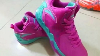 womens anta KT2 teal purple 2