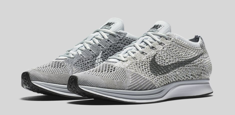 df1040fa804e The Nike Flyknit Racer in  Pure Platinum  Releases This Weekend ...