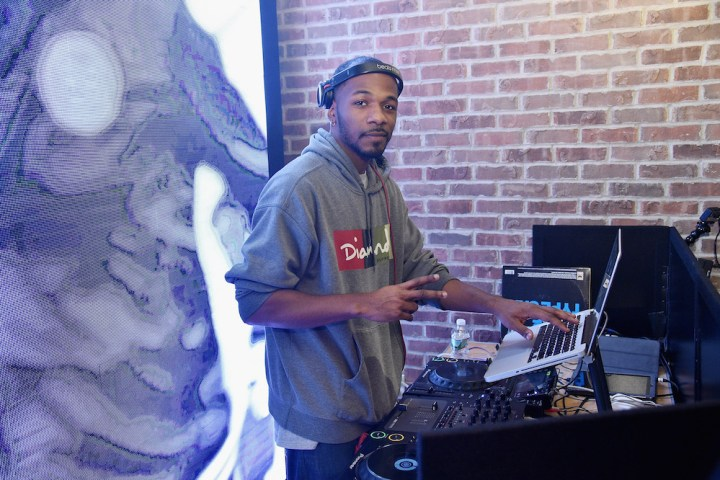 NEW YORK, NY - OCTOBER 11: DJ Ernz spins during Reebok's launch of the new InstaPump Fury Overbranded at Pop Up Shop in NYC on October 11, 2016 in New York City.  (Photo by Bryan Bedder/Getty Images for Reebok)