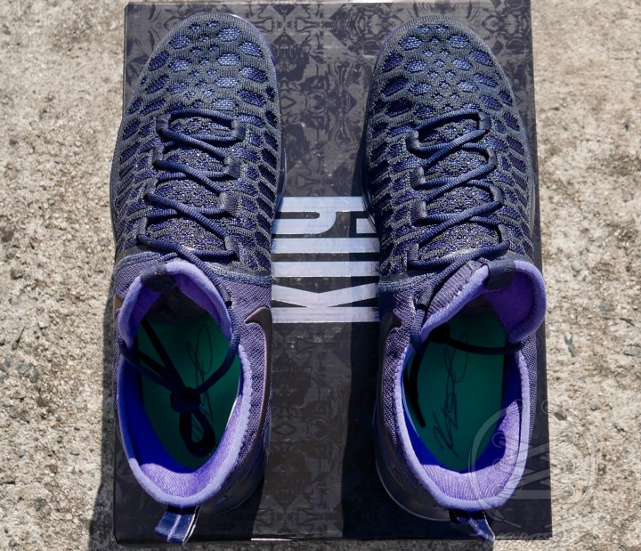 Nike Zoom KD9 Dark Obsidian - Top View